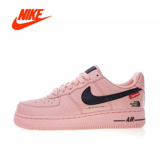 Оригинальный Новое поступление Аутентичные Nike Air Force 1 X Supreme X The  North Face Женская обувь 0bb06468f7a