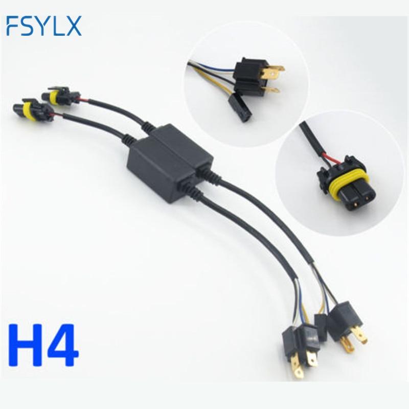 FSYLX 2pc H4 biksenonski adapter Hi-Lo relej kabelskog svežnja HID ksenonski kabl za balastne kabele za jedno automatsko svjetlo prednjeg svjetla motora