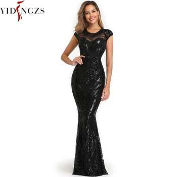 YIDINGZS Elegant Black Sequins Evening Dress 2020 Backless Beads Long Evening Party Dress YD088 - DISCOUNT ITEM  44 OFF Weddings & Events