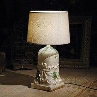 TUDA 30 5X58cm Free Shipping Modern European Style Table Lamp Creative Ceramic Table Lamp Home Furnishing