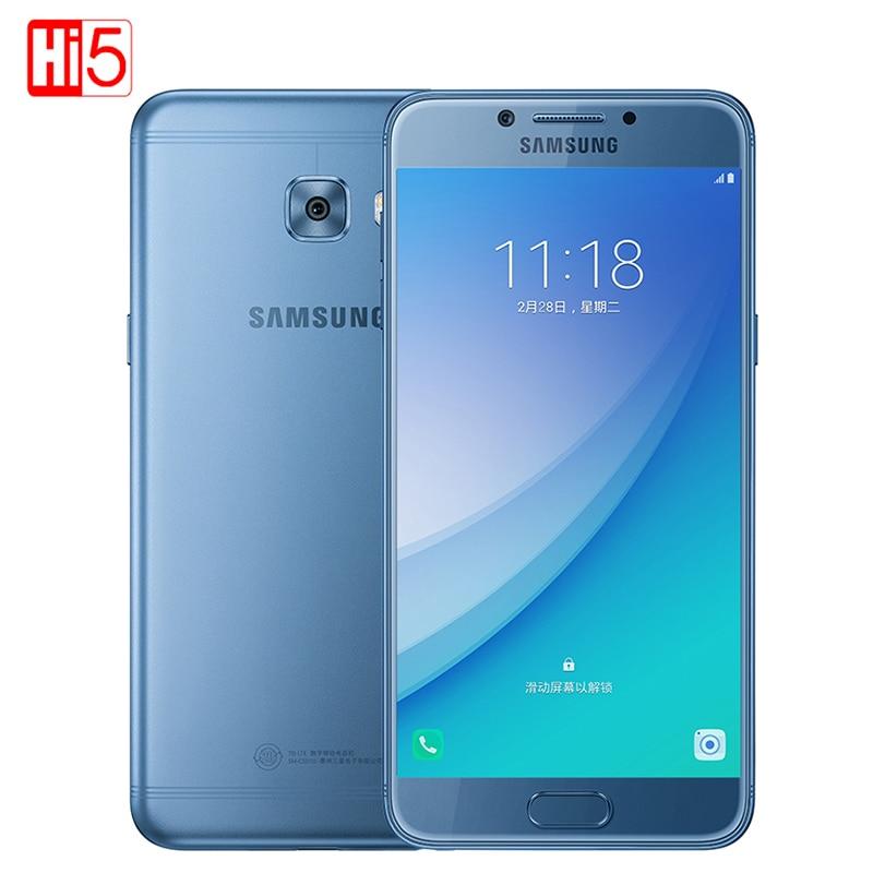 "Samsung Galaxy C5 Pro Mobile Phone 4G+64G Fingerprint Octa Core Dual SIM 5.2"" 2600mAh 16MP 4G LTE Qualcomm Smartphone"