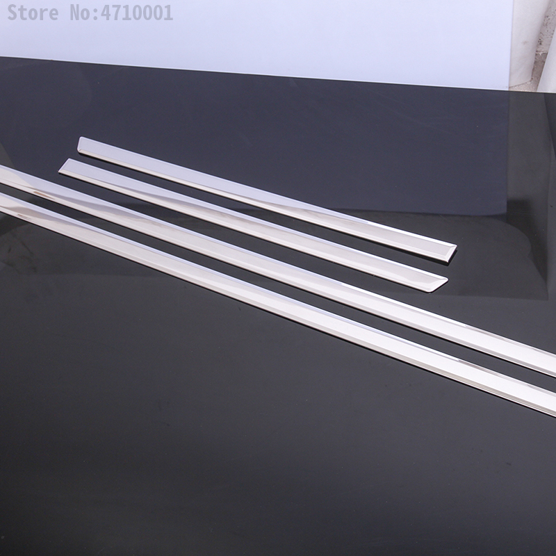 4pcs Chrome Stainless Steel For Land Rover Discovery Sport 2015-2018 Exteror Door Decoration Strips Trim