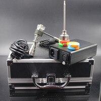 Date enail Dab Kit PID Électrique Nail avec différents style en verre bong titane nail carb cap chauffe-bobine pour bongs conduites d'eau