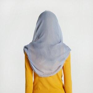Image 3 - Leo anvi lụa Chiffon vành khăn Phụ Nữ ren Veil Headband Bìa Mantilla Latin Hàng Loạt Rắn Infinity Hồi Giáo hijab