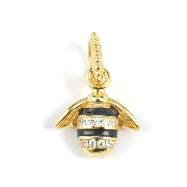 f83d0a89da835 US $9.37 20% OFF|925 Sterling Silver Shine Queen Bee Necklace Pendant Charm  Fit Pandora Charms Bracelets DIY Jewelry Accessories-in Beads from Jewelry  ...