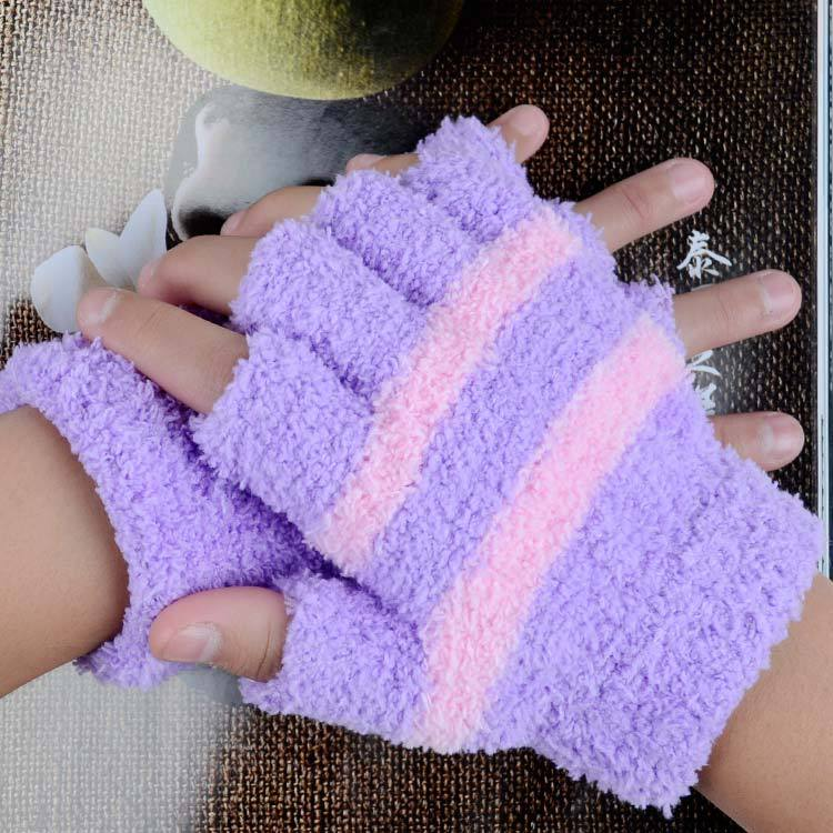 Guanti mezzi della barretta bambini caldo di inverno del knit studente scrittura guanti B-77