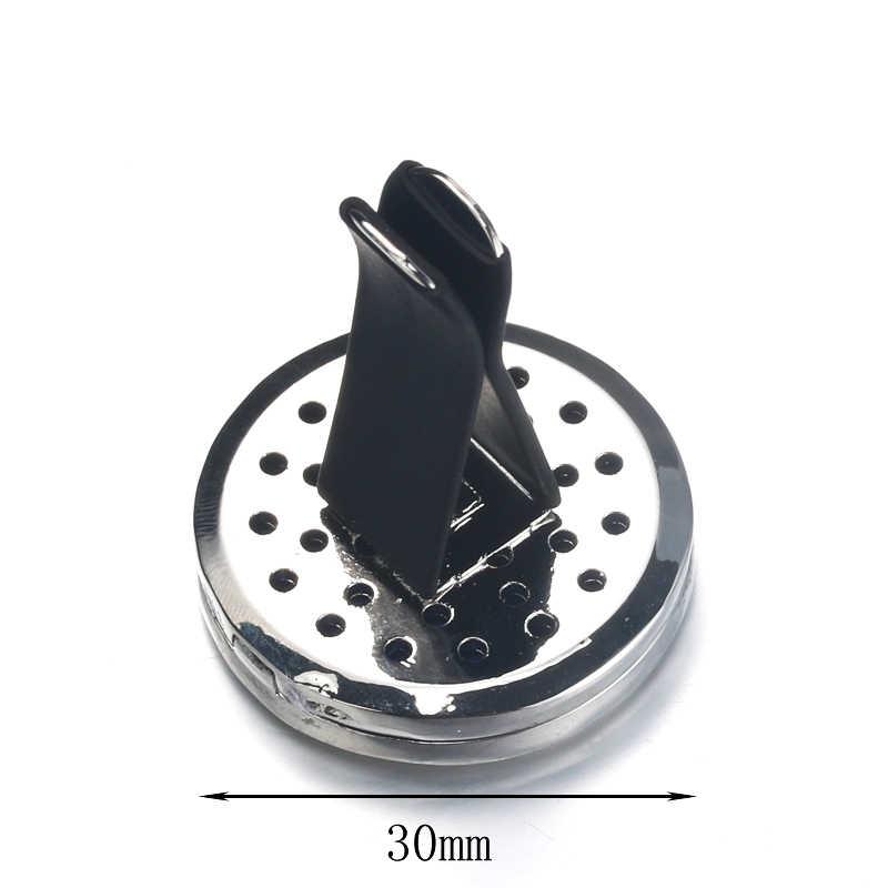 車の空気ディフューザーロケット花柄ステンレス鋼ベント清浄車エッセンシャルオイルディフューザー香水アロマネックレス