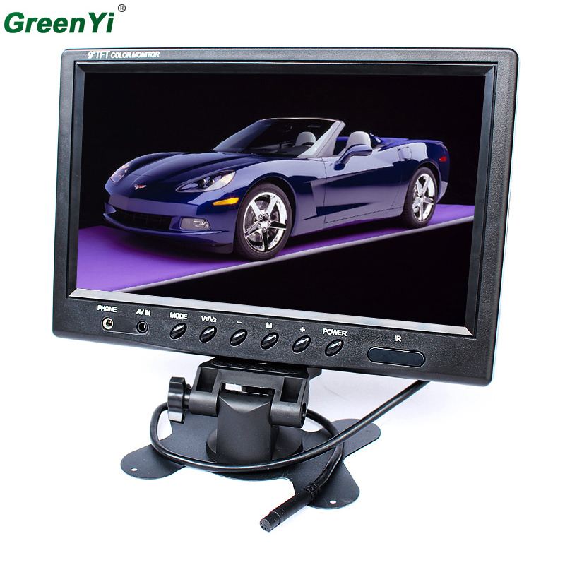 DC12V 9 inches Headrest TFT LCD HD Display Car Monitor With BNC AV Input For Rear