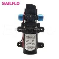 5 5L Min DC12V 80W 0142 Motor High Pressure Diaphragm Water Self Priming Pump Drop Ship