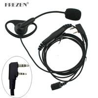 baofeng uv 5r K Plug מכשיר הקשר אוזניות D-סוג אצבע אוזן Stick זוגי PTT אפרכסת טקטי אוזניות עבור Baofeng UV-5R Kenwood TK-3107 (1)
