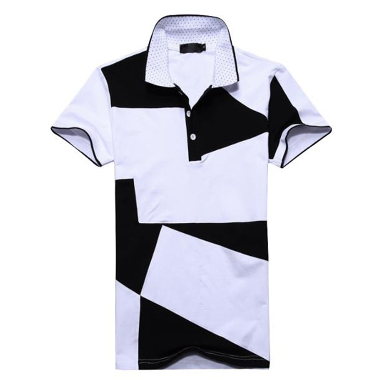 Mens T Shirts Fashion 2019 Summer Turn down Collor font b Slim b font Fit Short