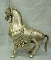 collectable Tibet silver featurely horse statue Free shipping