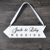 Cá nhân Tên Bảng Gỗ Wedding Đăng Cưới Gỗ Directional Dấu Hiệu Tiếp Nhận Hướng Mũi Tên