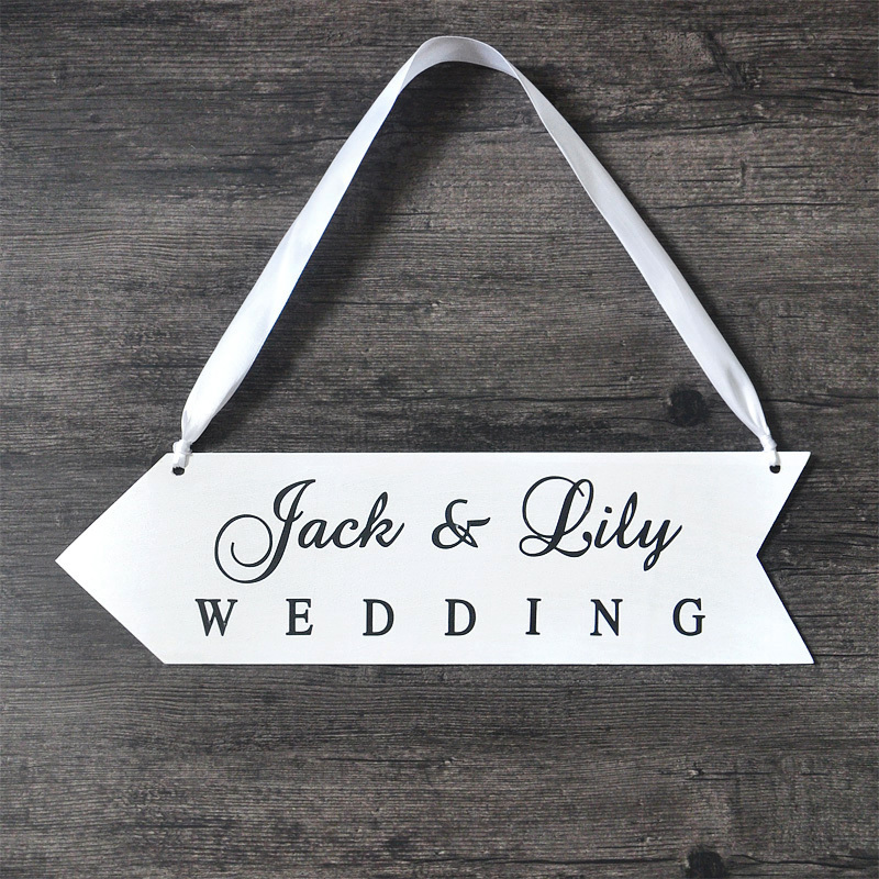 aliexpresscom buy personalized names wood board wedding sign wood wedding directional signs reception directional arrow from reliable sign arrow