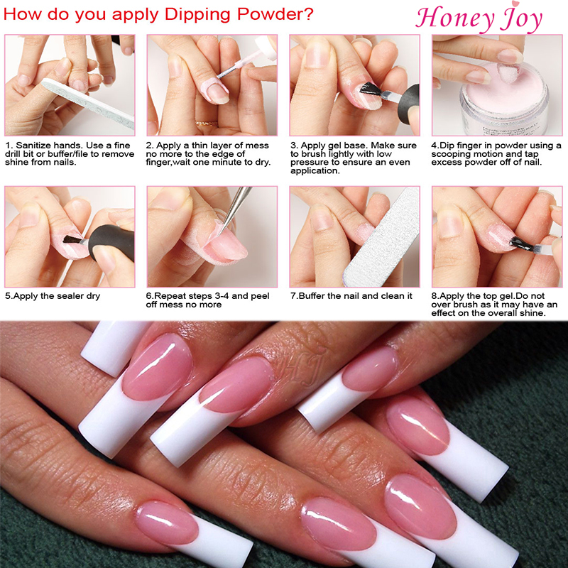 28g/Box Nude Color Easy To Use Dip Powder Nails Dipping Nails Long ...