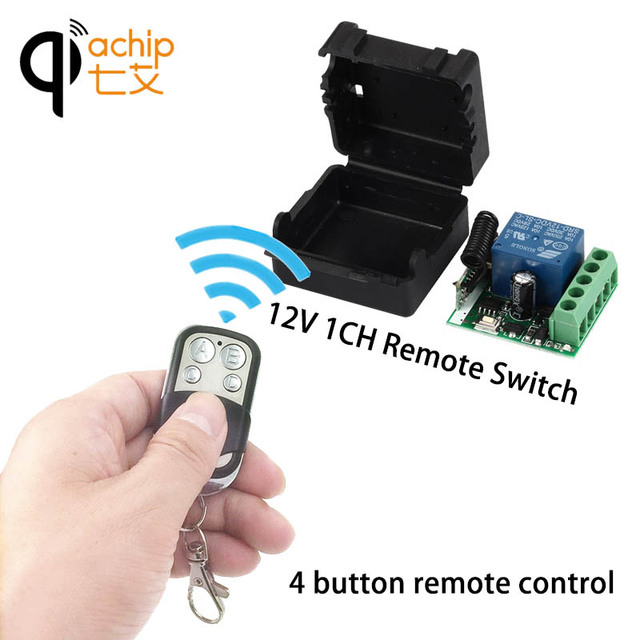 433Mhz Universal Wireless Remote Control Switch DC12V 10A 1CH relay Receiver Module with RF Remote 433 Mhz Transmitter KR1201A-4