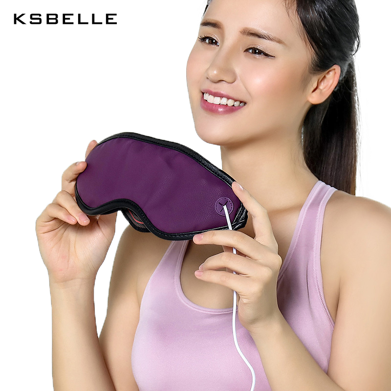 Eye massager stone needle Heating Eye mask with Beneficial Far Infrared/ Puffiness Fatigue Relieving devices Eyes beauty Therapy free shipping new air pressure eye massager with mp3 6 functions dispel eye bags eye magnetic far infrared heating eye care