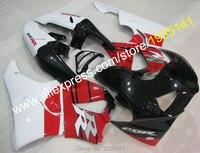 Hot sprzedaż dla honda cbr900rr 919 1998 1999 cbr 900 rr fireblade 98 99 cbr919 czerwony czarny biały nadwozie motocykl fairing kit