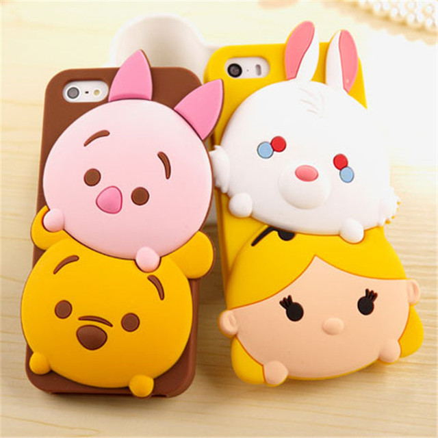 Cute 3D Cartoon Tsum Sulley Daisy Mike Fundas Capa Soft Silicone Phone Cases Cover For iPhone 7 7Plus 5 5G 5S SE 6 6G 6S 6Plus