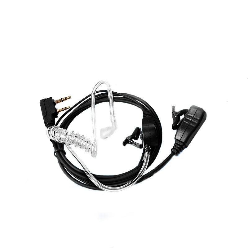 Air Tube Headset Earpiece Throat Microphone Mic PTT For Portable Radio Walkie Talkie Baofeng UV-5R UV B5 GT-3TP UV-8HX UV-5RA
