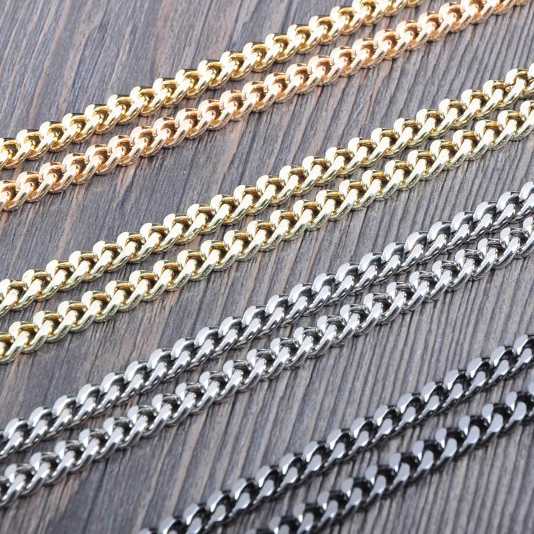 Four Colors High Quality Metal Chains Shoulder Strap For Bag DIY Accessories Chain Handle Bag Purse Frame Strap Ornament Strap