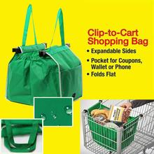 Large Capacity Bags Foldable Tote Eco-friendly Reusable Trolley Supermarket Handbags For Women