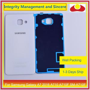Image 4 - Original For Samsung Galaxy A7 2016 A710 A710F SM A710F Housing Battery Door Rear Back Cover Case Chassis Shell Replacement