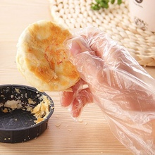 100pcs Disposable PE Gloves Home Kitchen Cooking Hand Protect Gloves Household Restaurant BBQ Plastic Multi-fuctional Gloves