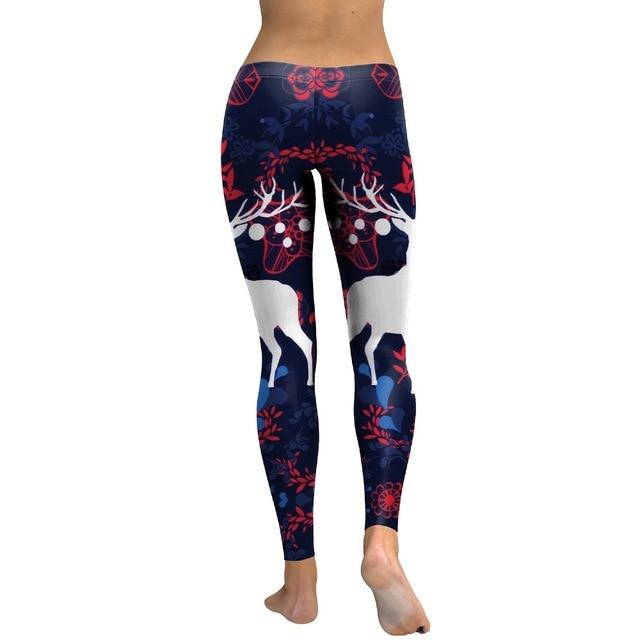 b92f59de3bf New Womens Printed Christmas Leggings Santa Claus Elk Cosplay Leggin  Chirsmas Part High Waist Slim Design Fitness Girls Pants