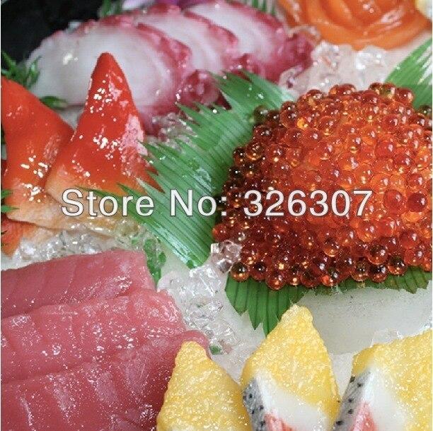 Муляж пищевых продуктов большой японский муляжи пищевых продуктов Модель глубокое блюдо sashimi ложный образец кухни посуда как в ресторане м... - 3