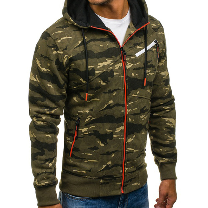 c9a54028bee55 ZOGAA Autumn Mens Military Camouflage Jacket Army Tactical Clothing Male  Windbreaker Zipper Polyester Men Hoodie Jacket Coat-in Jackets from Men's  Clothing ...
