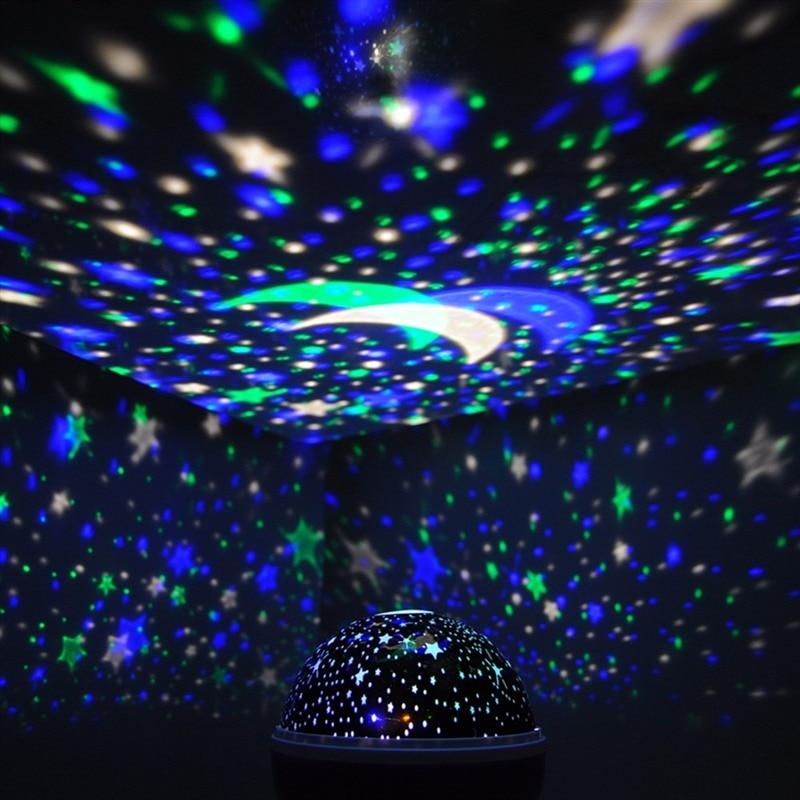 Romantic Rotating Spin Night Light Projector Children Kids Baby Sleep Lighting Sky Star Master USB Lamp Led Projection Newest
