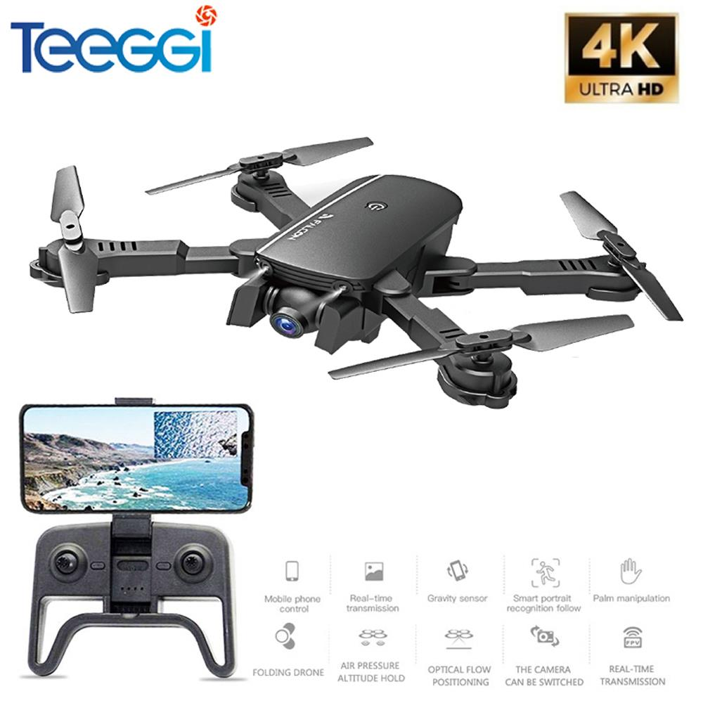 M66 Wifi FPV RC Drone 4K Camera Quadcopter 1080P Dual Camera Optical Flow Positioning Gesture Photo Dron Vs Visuo Xs816 SG106
