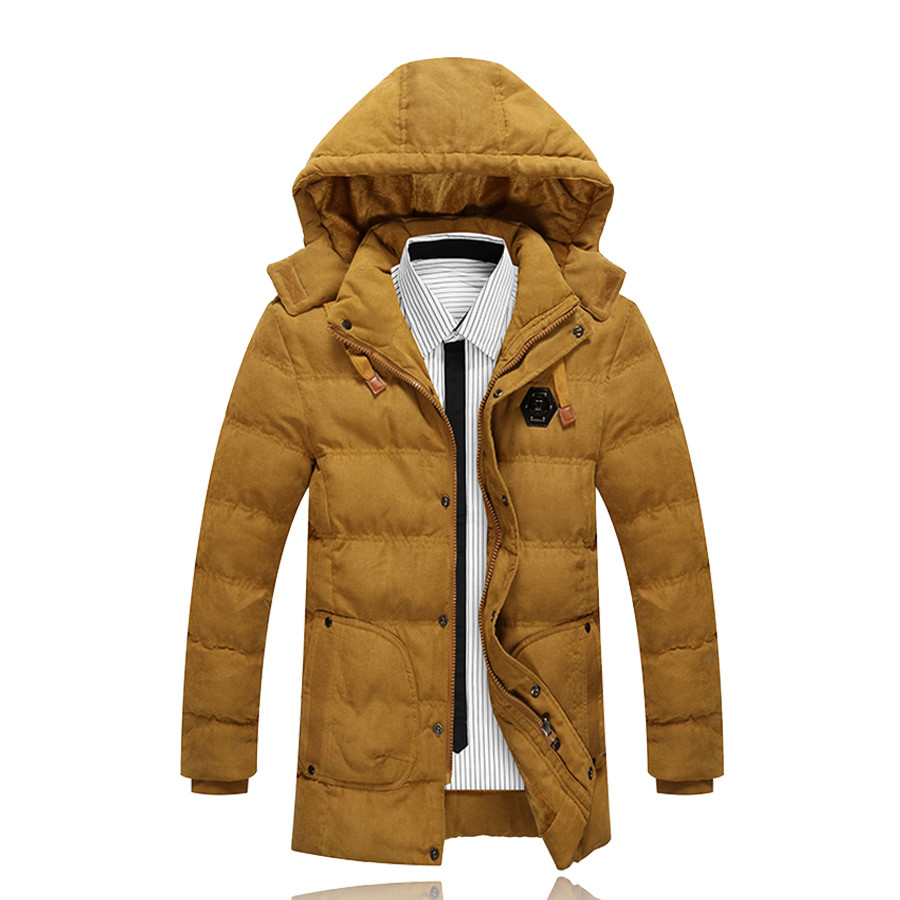 Men Winter Cotton Hooded Parkas Snow Winter Warm Thick Long Jacket Coats Brand Casual Slim Fit Chaqueta Homme SL-E427 hooded detachable winter warm men coats brand design snow thick outdoor down parkas casual slim fit cotton trench coats f1210