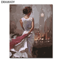 New Frameless Pictures Painting By Numbers Hand Painted Oil On Canvas Wall Decor For Living Room