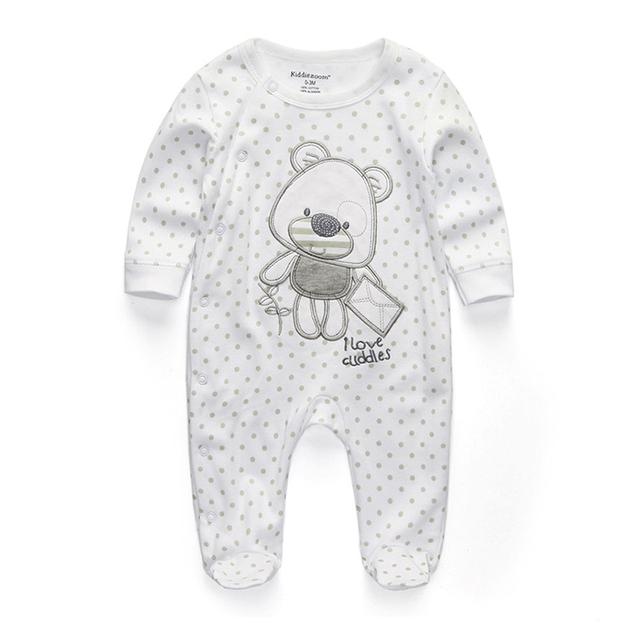 Newborn's Printed Cotton Pyjama with O-Neck