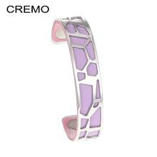 hot deal buy cremo bangles for women giraffe stainless steel cuff bracelets&bangles manchette femme bracelets argent pulseiras