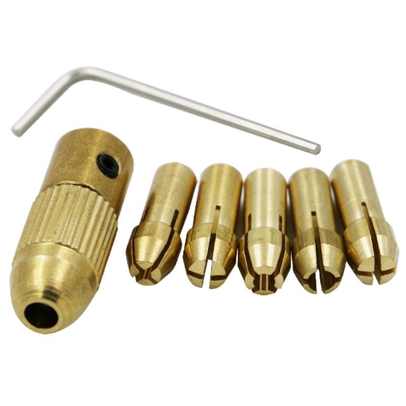 ミニドリルチャックアダプターキーレスソケットドレメルミニ電動ドリルビットセット電動工具アクセサリーマイクロドリルコレットクランプ