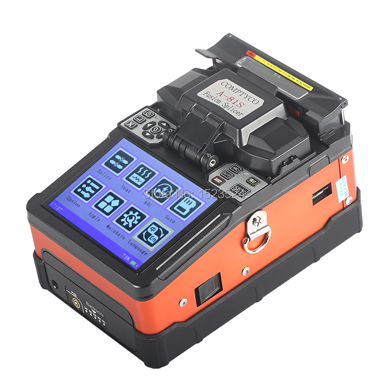 A-81S Orange Entièrement Automatique Fusion Splicer Machine Fiber Optique Fusion Splicer Fiber Optique Épissage Machine