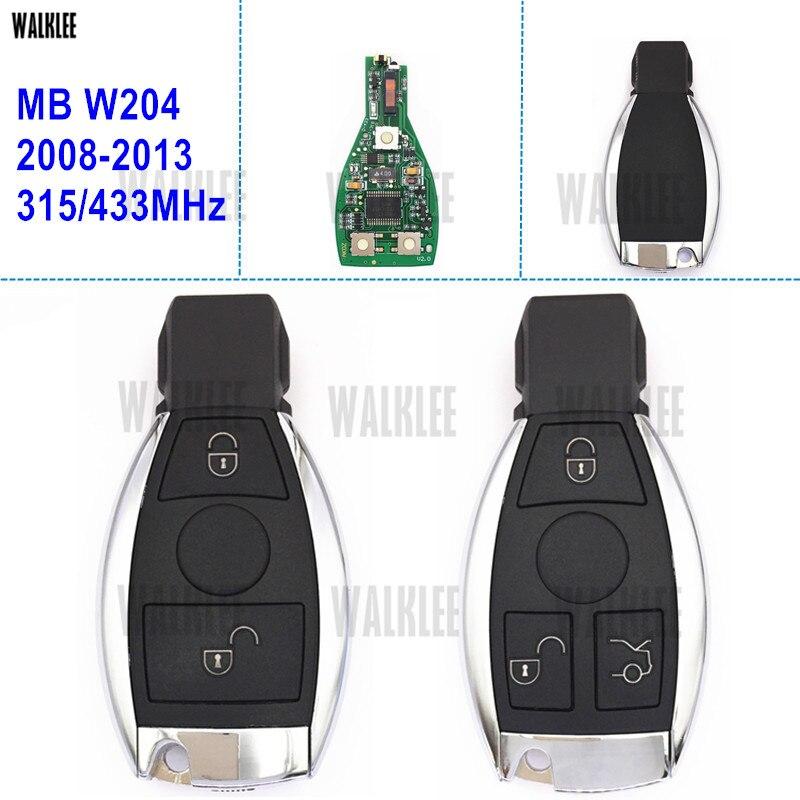 WALKLEE Selbstfern Smart-Key Anzug für Mercedes Benz W204 2007-2014 C180 C220 C200 C230 C250 C280 C300 C350 C320 4 MATIC CDI