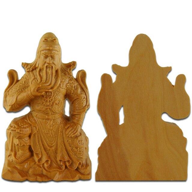 tallas de madera de boj wu fortuna guan gong guan er vosotros adornos pequeas estatuas casa