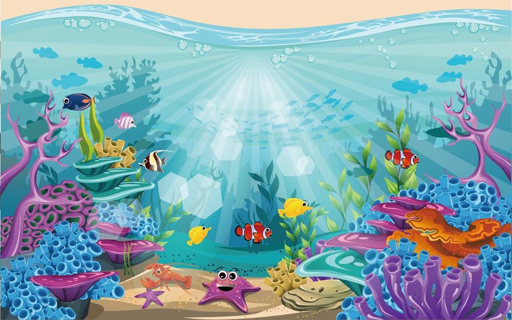Under the sea backdrop baby shark birthday party