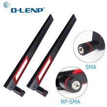 Dlenp 1 пара 2,4 Ghz 5G 5,8 Ghz wifi антенна двухдиапазонная 12dBi антенна маршрутизатор Антенна SMA папа(pin)/RP-SMA папа(отверстие