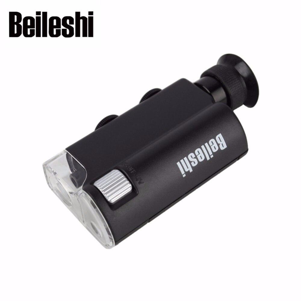 Lupa de Zoom 200X-240X LED + lupa de teléfono móvil UV microscopio ajustable gran angular de alta definición joyería de detección de moneda