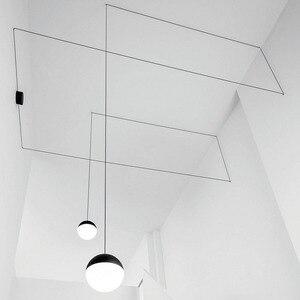 Железные в стиле постмодерн, подвесные светильники в скандинавском стиле для гостиной, спальни, коридора, индивидуального декора, стеклянн...