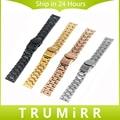 16mm 18mm 20mm 22mm 24mm Faixa de Relógio de Aço Inoxidável Cinta Universal Fivela de Bloqueio de Aço Inoxidável pulseira de Prata Preto Ouro Rosa