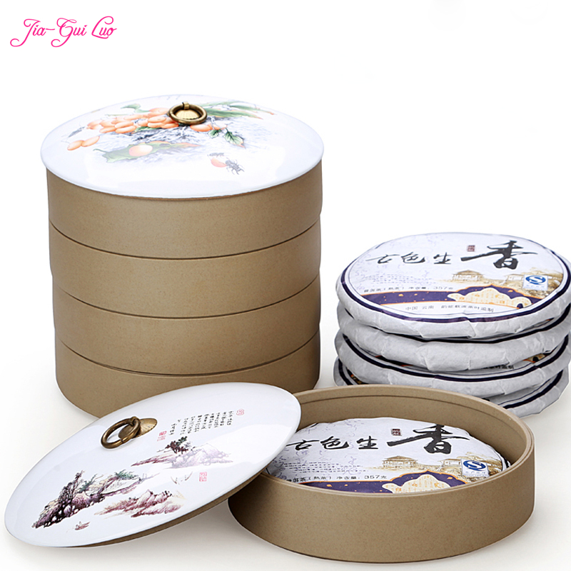 Jia gui luo China Ceramic Pu'er Tea Box Collection Candy Dried Fruit and Precious Herbs