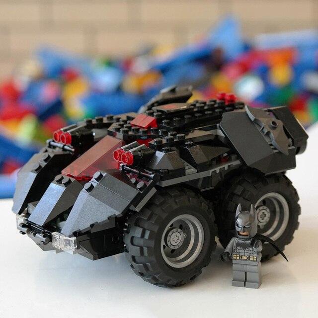 DHL 07111 Brinquedos de Super-heróis Série O Aplicativo 76112-controlado Conjunto Batmobile Montagem de Blocos de Construção Tijolos de Presente de Natal