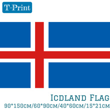 Free shipping 15x21cm 40x60cm 60x90cm 90x150cm Hanging Iceland National flag For world cup Home Decoration banner