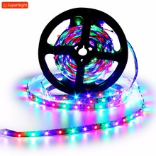 Dream RGB LED Strip 3528 SMD 5M 60LEDs/m DC 12V Flexible Lamp Band Fairy Light Strip for Home Party Wedding Decoration Lighting 18w 1200lm 635 700nm 300 smd 3528 led red light car flexible decoration strip dc 12v 500cm